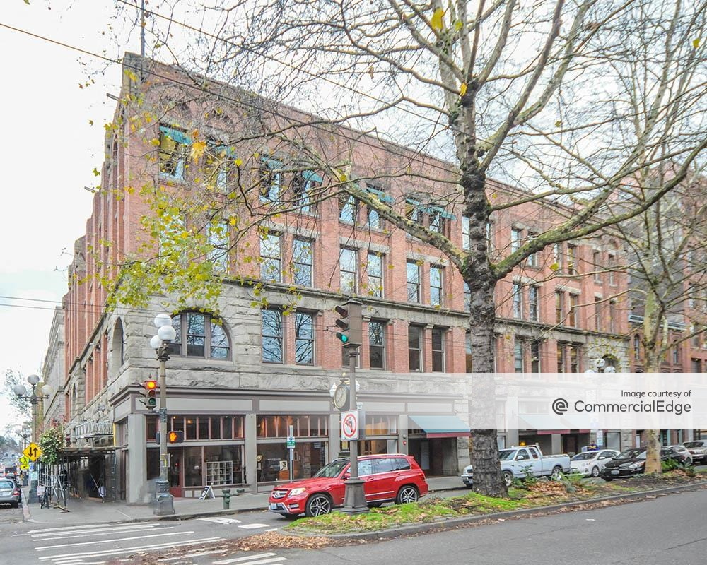 The Globe Building at 1st Avenue and South Main Street, Seattle office space