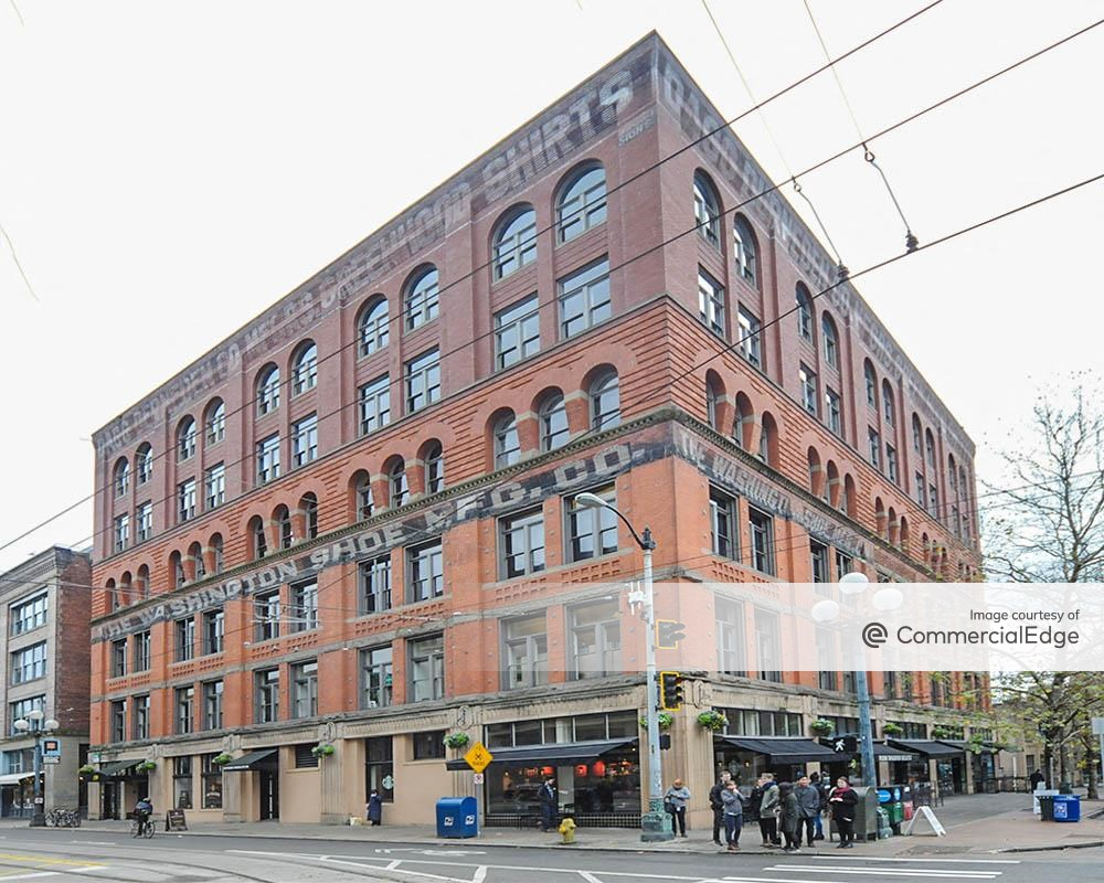 The Washington Shoe Building at 159 South Jackson Street, Seattle office space for rent