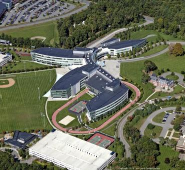 Lee Vants aerial photo of Reebok HQ in Canton MASS via boston business journal