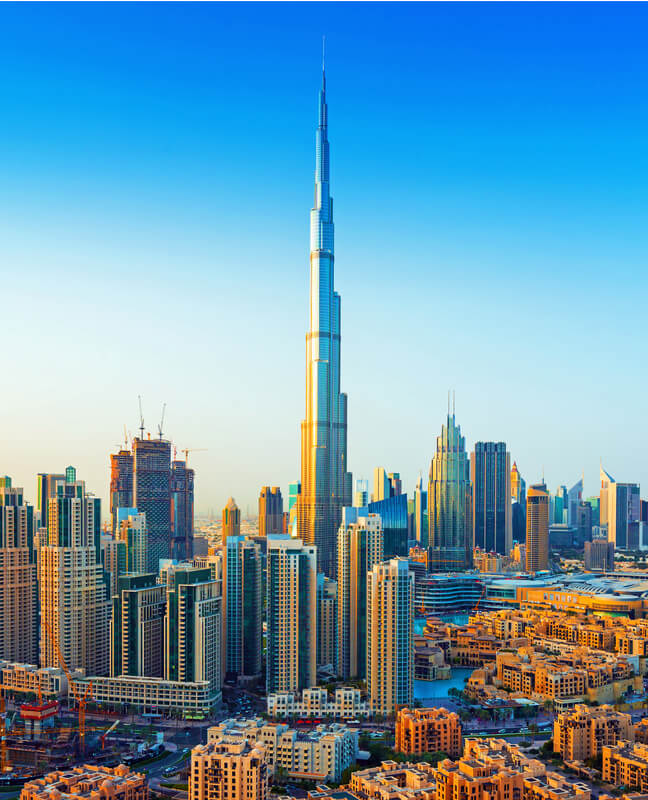 the Burj Khalifa, tallest building in the world from 2010