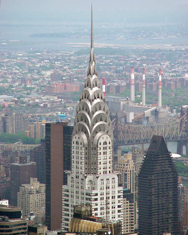 the Chrysler Building, tallest building in the world in 1931