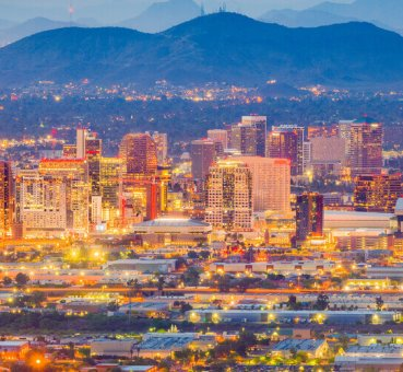 Phoenix, Ariz. skyline at night