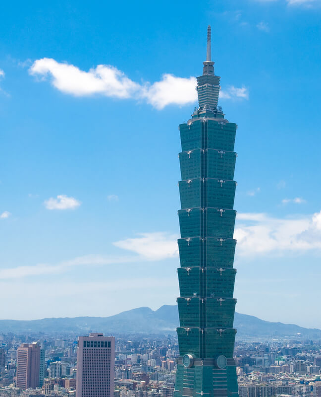 Taipei 101, tallest building in the world from 2004 to 2010