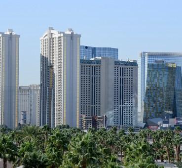 View of several Las Vegas office buildings