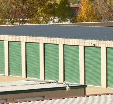 A storage facility with several self storage units