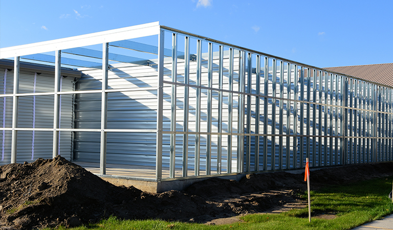 Self storage facility under construction
