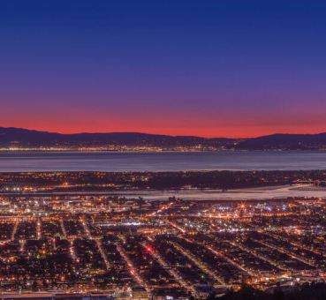 Aerial view of the San Francisco Bay Area