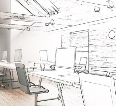 office solutions design sketch