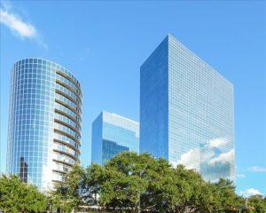 Greenway Plaza in Houston, part of Cousins Properties' merger with Parkway Properties (via Yardi Matrix)