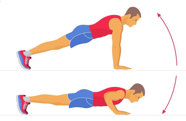 Office workouts - push-ups