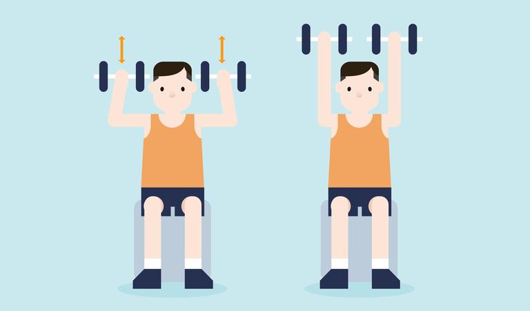 Office workouts - shoulder presses