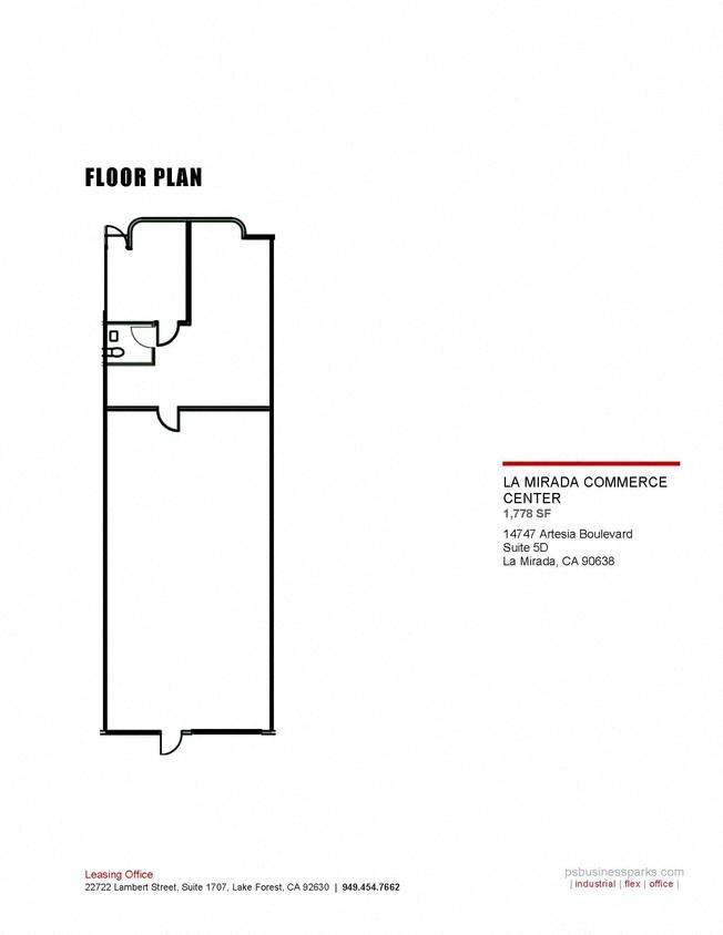5D – 1,778 SF warehouse flex space