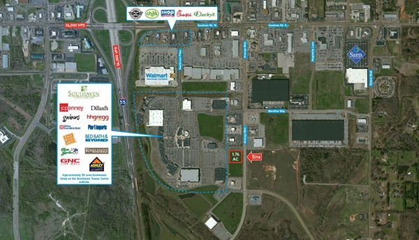 1.76 Acres of Commercial Land Offered at $695,000 in Southaven, MS For Ssle