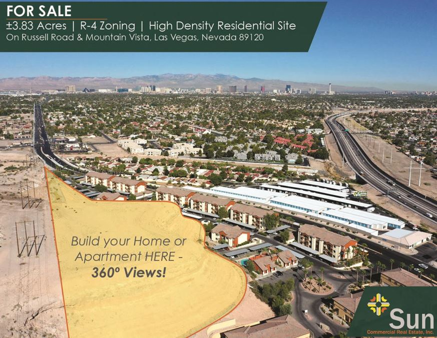 ±3.83 Acres | R-4 Zoning | High Density Residential Site