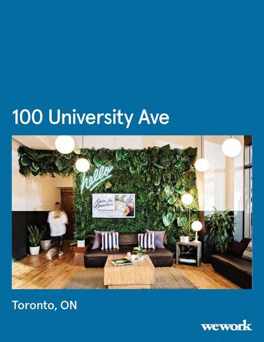WeWork   100 University Ave
