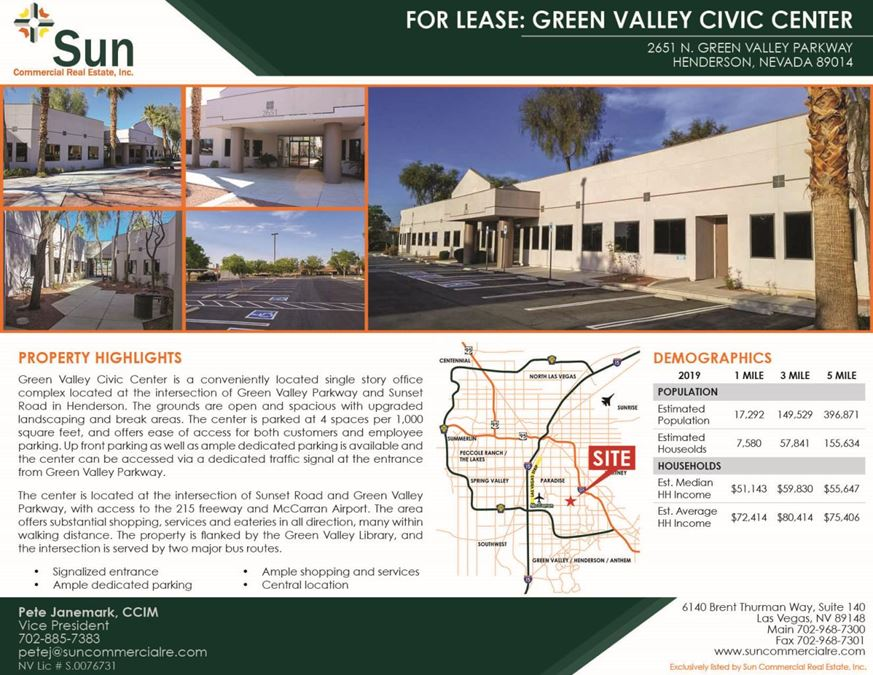 Green Valley Civic Center